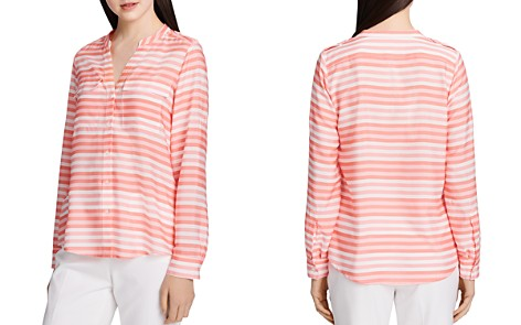 Calvin Klein Striped Button-Down Blouse - Bloomingdale's_2