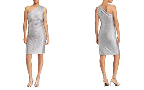 Lauren Ralph Lauren Metallic One-Shoulder Dress - Bloomingdale's_2