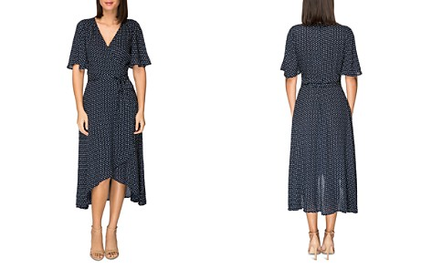 B Collection by Bobeau Orna Dot-Printed Wrap Dress - Bloomingdale's_2