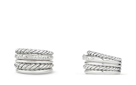 David Yurman Pure Form Wide Ring with Diamonds - Bloomingdale's_2