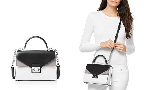 MICHAEL Michael Kors Sloan Medium Double Flap Leather Satchel - Bloomingdale's_2