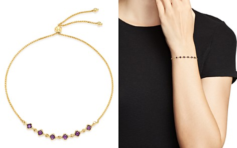 Bloomingdale's Amethyst Mini Clover Bolo Bracelet in 14K Yellow Gold - 100% Exclusive _2