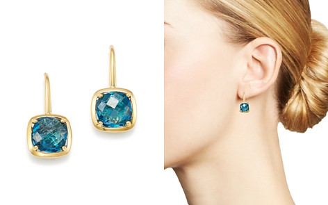 Bloomingdale's Blue Topaz Square Drop Earrings in 14K Yellow Gold - 100% Exclusive _2