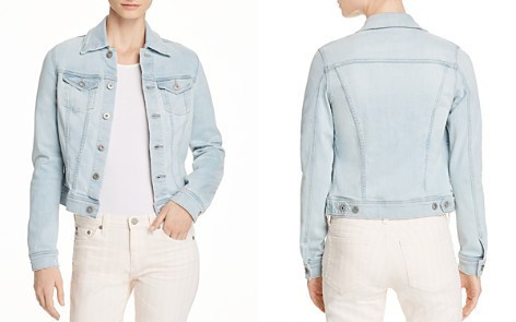 AG Robyn Fitted Denim Jacket in Salt Ruins - Bloomingdale's_2