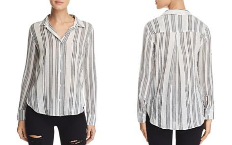 Bella Dahl Metallic Striped Shirt - Bloomingdale's_2