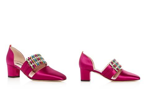 SJP by Sarah Jessica Parker Pandora Embellished Satin d'Orsay Block Heel Pumps - Bloomingdale's_2