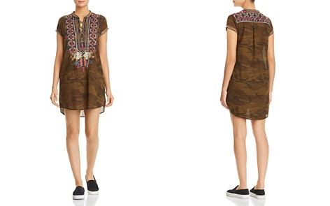Johnny Was Ronnie Embroidered Lace-Up Dress - Bloomingdale's_2