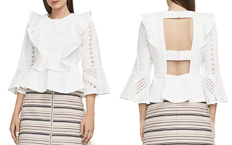 BCBGMAXAZRIA Kailey Ruffled Eyelet Top - Bloomingdale's_2