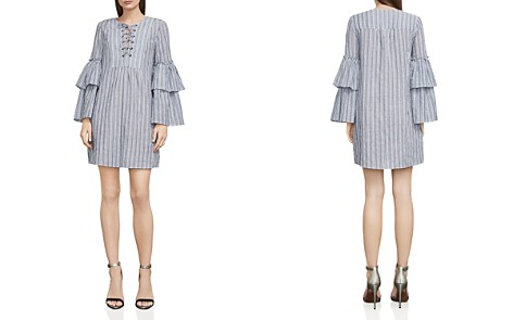 BCBGMAXAZRIA Charlyze Lace-Up Striped Dress - Bloomingdale's_2