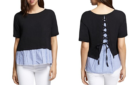 Sanctuary Skye Lace-Up Layered-Look Top - Bloomingdale's_2