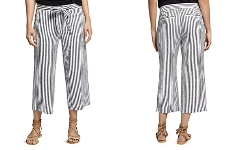 Sanctuary Sasha Stripe-Print Cropped Linen Pants - Bloomingdale's_2