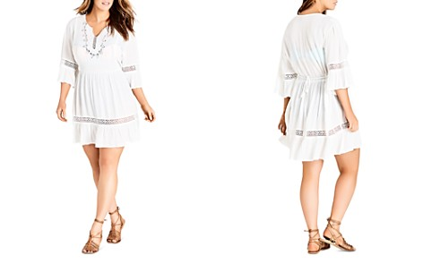 City Chic Plus Embroidered Bell-Sleeve Dress - Bloomingdale's_2