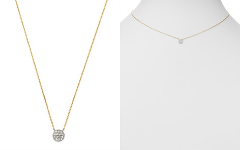 Moon & Meadow Diamond Circle Pendant Necklace in 14K White & Yellow Gold, 0.04 ct. t.w. - 100% Exclusive - Bloomingdale's_2