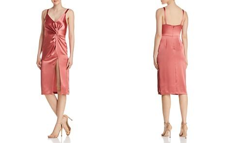 Jill Jill Stuart Satin Twist-Front Dress - Bloomingdale's_2