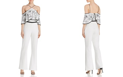 Aidan Mattox Beaded Cold-Shoulder Jumpsuit - Bloomingdale's_2