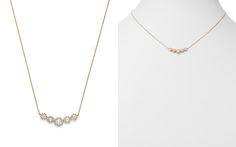 Bloomingdale's Diamond Bezel Row Necklace in 14K Rose Gold, 0.50 ct. t.w. - 100% Exclusive _2