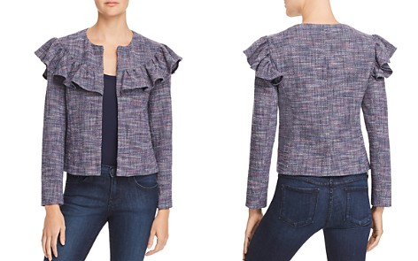 Rebecca Taylor Ruffle-Trimmed Tweed Jacket - Bloomingdale's_2