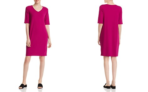Eileen Fisher V-Neck Shift Dress - Bloomingdale's_2