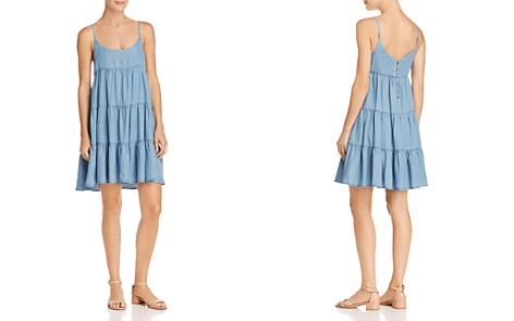 AQUA Tiered Chambray Dress - 100% Exclusive - Bloomingdale's_2