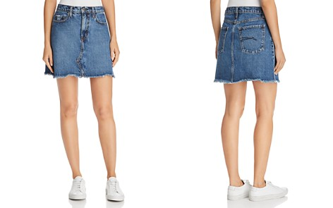 Nobody Piper Pipe Denim Skirt in White Edge - Bloomingdale's_2