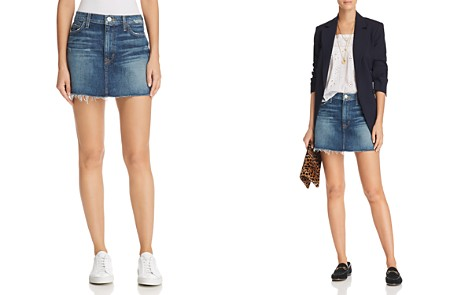Hudson Vivid Cutoff Denim Mini Skirt in Fortune - Bloomingdale's_2