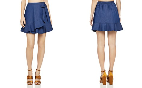 BCBGENERATION Faux-Wrap Denim Mini Skirt - Bloomingdale's_2