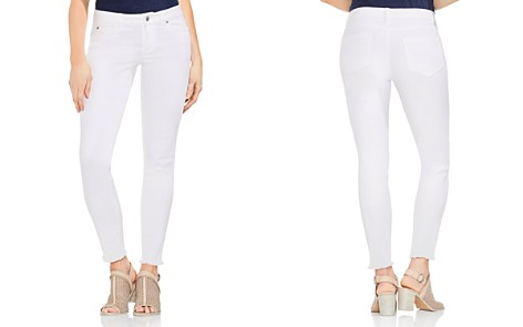 VINCE CAMUTO Frayed Skinny Jeans in Ultra White - Bloomingdale's_2