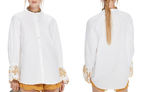 Scotch & Soda Embroidered Flare-Sleeve Top - Bloomingdale's_2