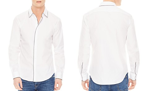 Sandro Piping Slim Fit Button-Down Shirt - Bloomingdale's_2
