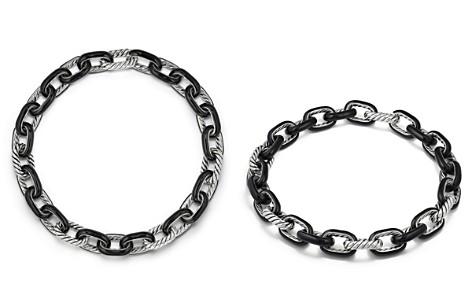 David Yurman Madison Chain Enamel Necklace in Black - Bloomingdale's_2