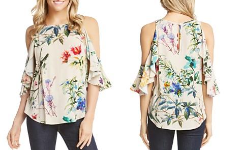 Karen Kane Floral Flutter Cold-Shoulder Top - Bloomingdale's_2