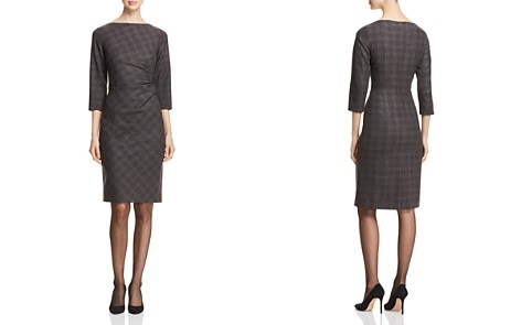 Weekend Max Mara Riber Ruched Plaid Sheath Dress - Bloomingdale's_2