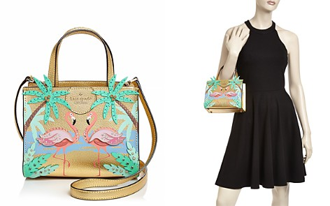 kate spade new york By The Pool Flamingo Small Sam Leather Crossbody - Bloomingdale's_2