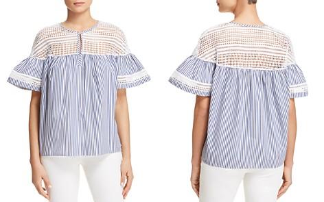 Scotch & Soda Crochet Stripe Bell Sleeve Top - Bloomingdale's_2