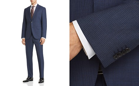 BOSS Johnstons/Lenon Regular Fit Textured Micro Check Suit - Bloomingdale's_2