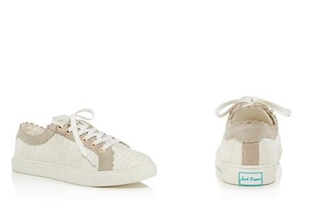 Jack Rogers Women's Scalloped Suede & Tweed Low Top Lace Up Sneakers - Bloomingdale's_2