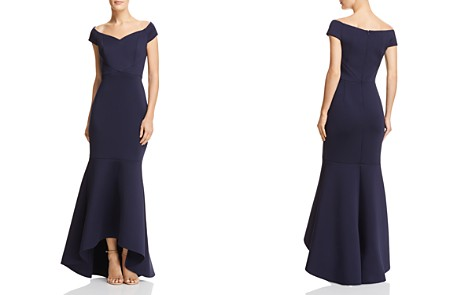 Eliza J Off-the-Shoulder Scuba Gown - Bloomingdale's_2