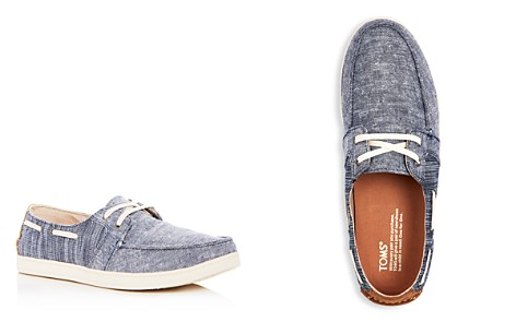 TOMS Men's Culver Chambray Boat Shoes - Bloomingdale's_2