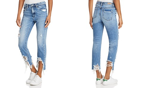 BLANKNYC Distressed Step Hem Straight-Leg Jeans in Happy Hour - Bloomingdale's_2