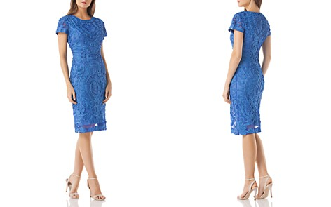 JS Collections Embroidered Soutache Dress - Bloomingdale's_2