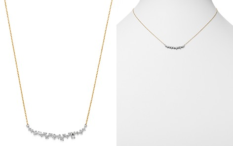 "Adina Reyter Sterling Silver & 14K Yellow Gold Scattered Diamond Curve Necklace, 15"" - Bloomingdale's_2"