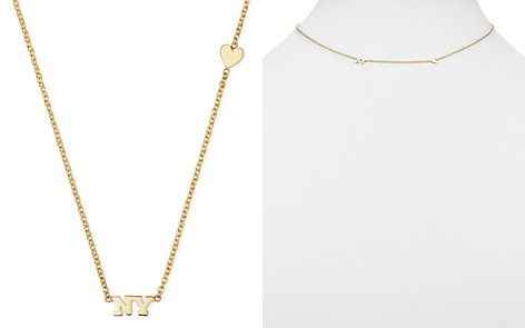 """Zoë Chicco 14K Yellow Gold Tiny Heart & NY Necklace, 16"""" - Bloomingdale's_2"""
