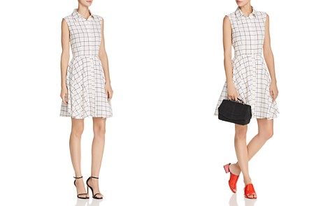 AQUA Windowpane Shirt Dress - 100% Exclusive - Bloomingdale's_2