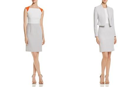 BOSS Dekala Color Block Cutout Sheath Dress - Bloomingdale's_2