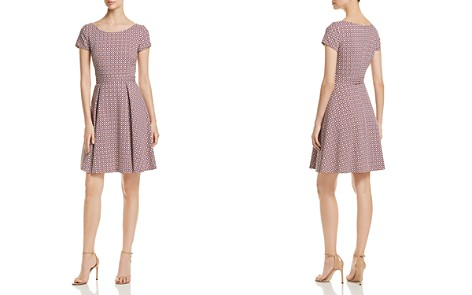 BOSS Dalene Printed Fit-and-Flare Dress - Bloomingdale's_2