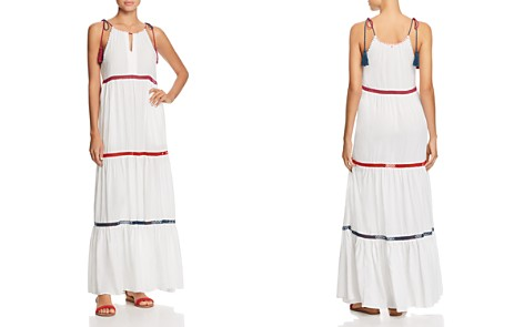 Red Carter In Stitches Tiered Maxi Dress Swim Cover Up - Bloomingdale's_2
