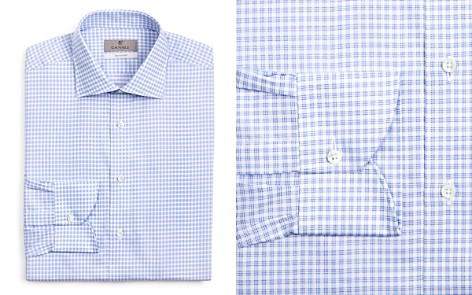 Canali Multi Check Regular Fit Dress Shirt - Bloomingdale's_2