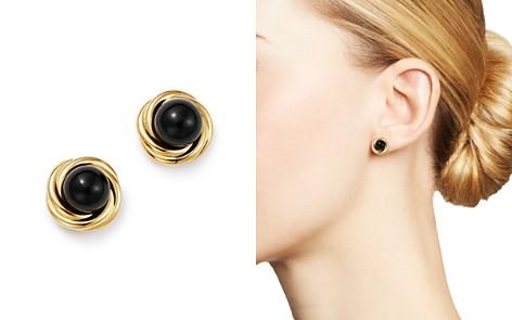 Bloomingdale's Onyx Swirl Stud Earrings in 14K Yellow Gold - 100% Exclusive _2