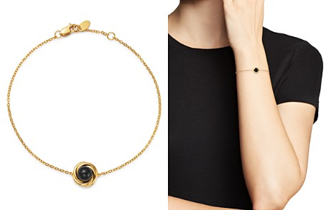 Bloomingdale's Onyx Swirl Station Bracelet in 14K Yellow Gold - 100% Exclusive _2