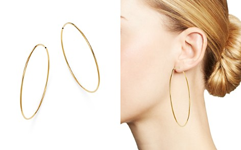 Moon & Meadow Slim Endless Hoop Earrings in 14K Yellow Gold - 100% Exclusive - Bloomingdale's_2